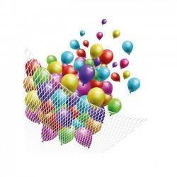 Plasa alba pentru 200 baloane colorate, Funny Fashion