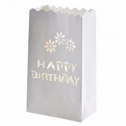 Lampioane decorative, model Happy Birthday, 5 bucati, Funny Fashion