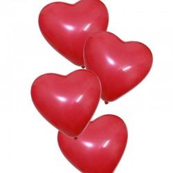 Baloane forma inimioara, 12 bucati, rosu, Funny Fashion