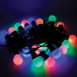 Ghirlanda lumini LED colorate, 20 globuri, 9.5 m, Funny Fashion