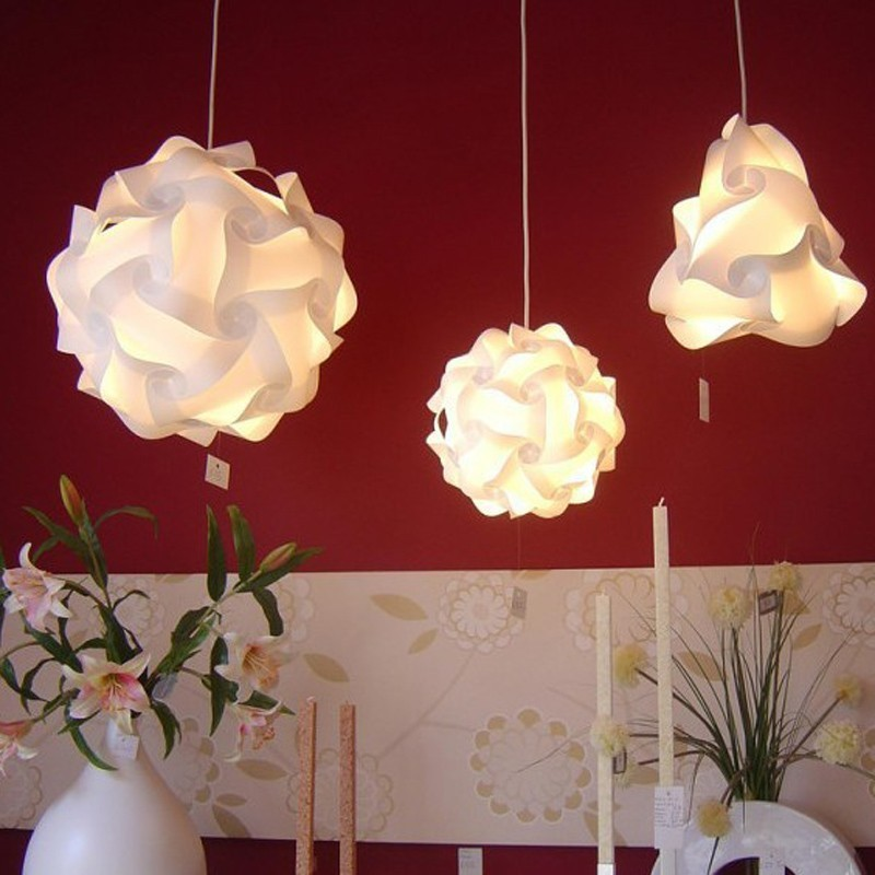 Lampa creativa puzzle, 30 elemente, alba