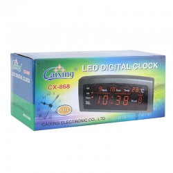 Ceas electronic, afisaj LED, AM/PM, calendar, temperatura, Caixing