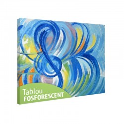 Tablou fosforescent Albastru muzical