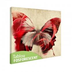 Tablou fosforescent Fluture rosu