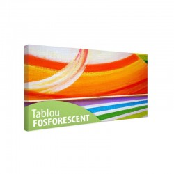 Set tablou fosforescent Curcubeu abstract