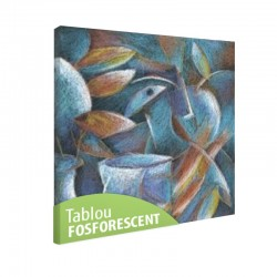 Set tablou fosforescent Frunze