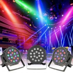 Proiector LED RGB 18W, DMX512 controller disco, telecomanda, senzor sunet