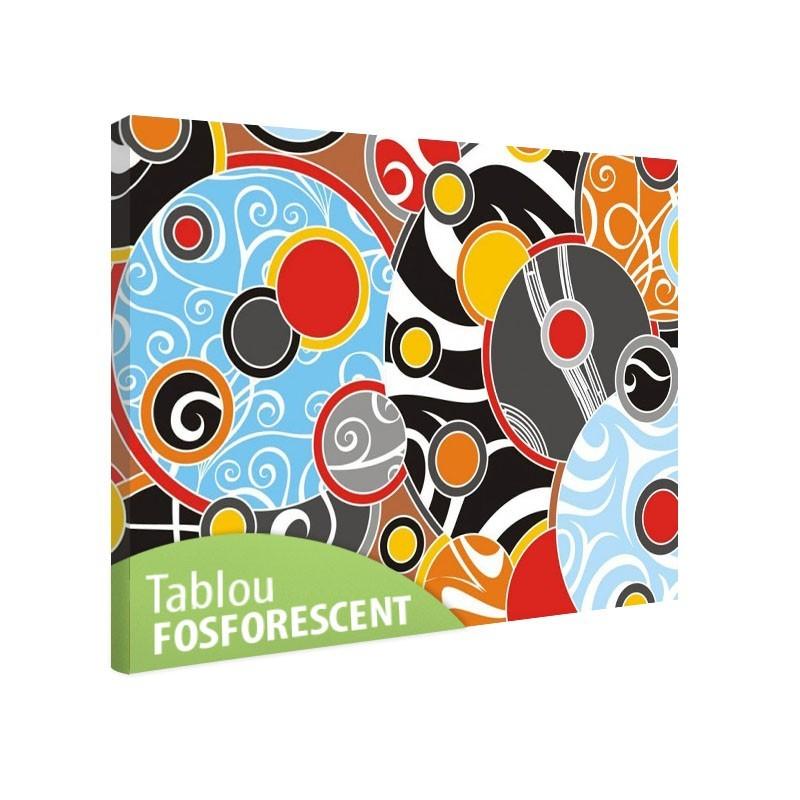 Set tablou fosforescent Cercuri colorate