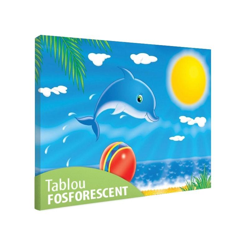 Set tablou fosforescent Delfin