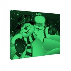 Set tablou fosforescent Mos Craciun si omul de zapada