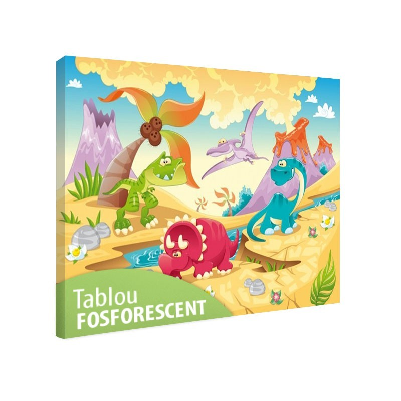 Set tablou fosforescent Dinozauri