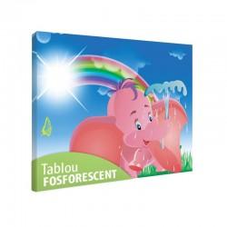 Set tablou fosforescent Elefantel