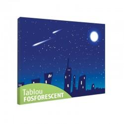 Set tablou fosforescent Orasel cu luna