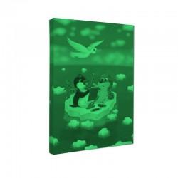 Set tablou fosforescent Foca, pingunin, pescarus