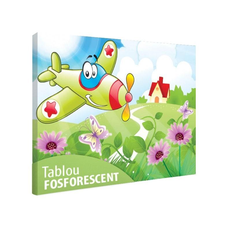 Set tablou fosforescent Avionul vesel