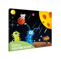 Set tablou fosforescent Extraterestrii veseli