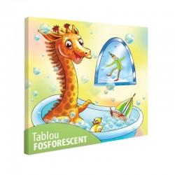 Set tablou fosforescent Girafa