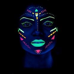 Vopsea UV Neon pentru corp si fata fluorescenta
