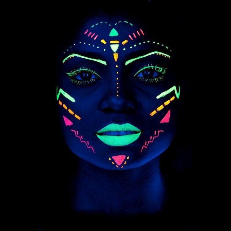 Vopsea UV Neon pentru corp si fata fluorescenta, flacon 13 ml