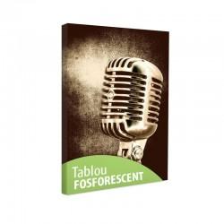 Tablou fosforescent Microfon