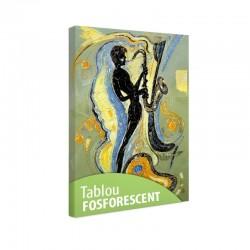 Set tablou fosforescent Muzicant cantand la saxofon