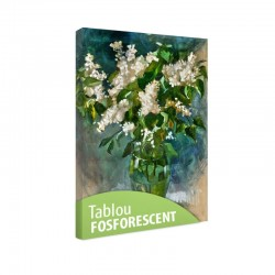 Tablou fosforescent Liliac alb