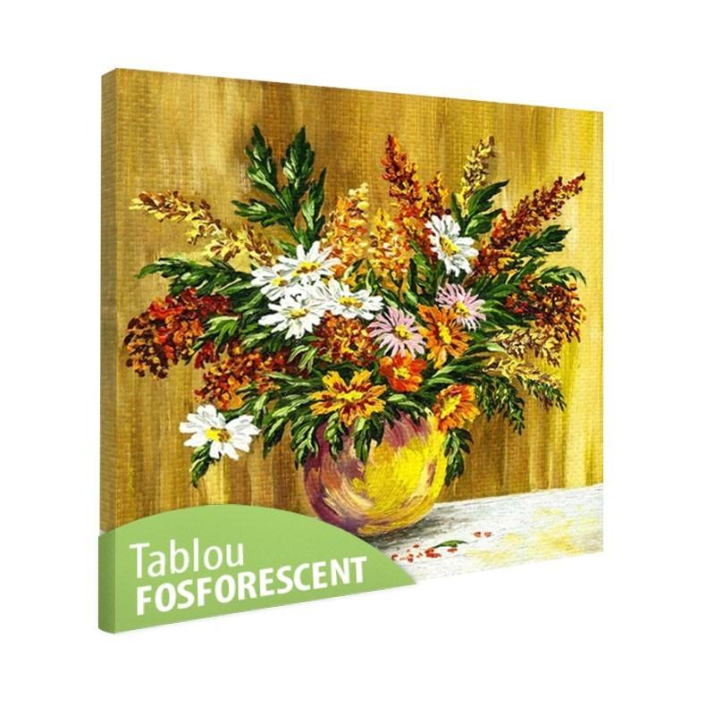 Set tablou fosforescent Flori de camp in vaza de lut