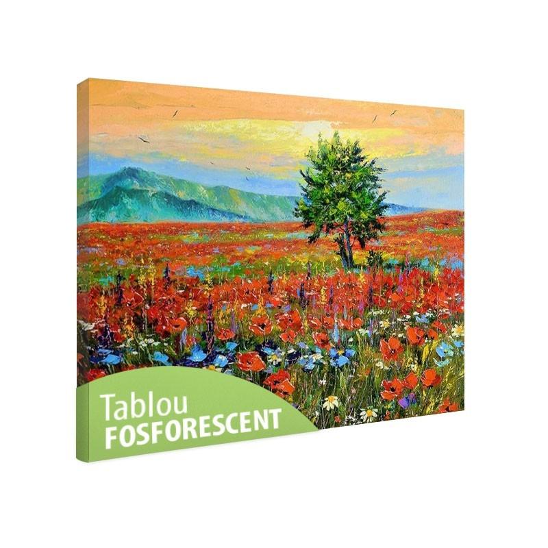 Set tablou fosforescent Copacul din camp