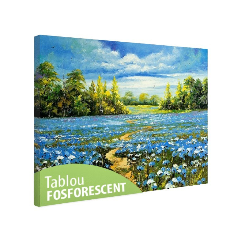 Set tablou fosforescent Drum printre flori