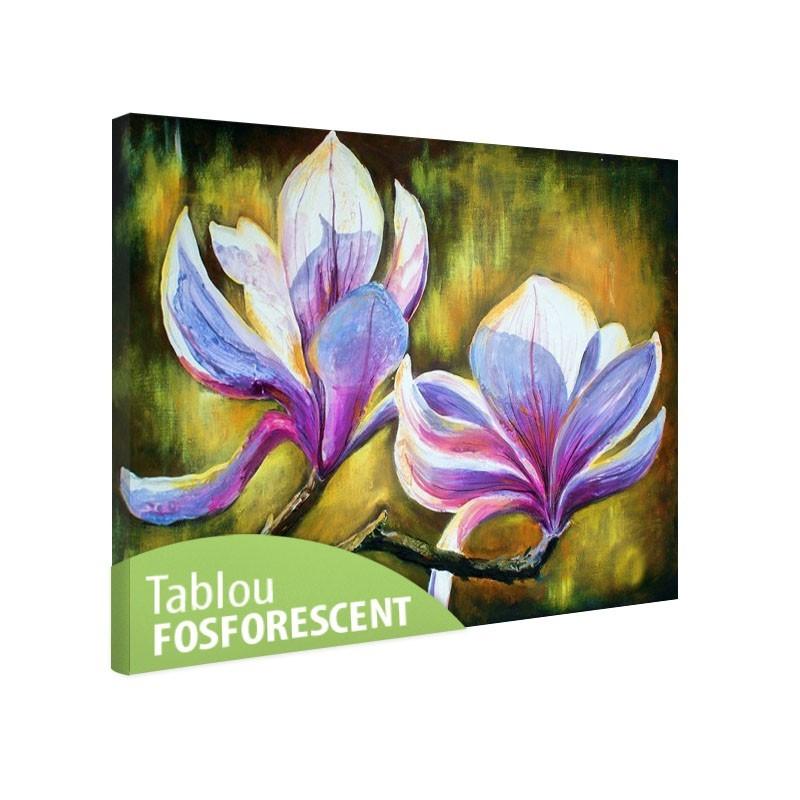 Set tablou fosforescent Magnolii
