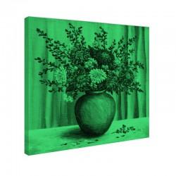 Tablou fosforescent Flori de ochiul boului in vaza de lut