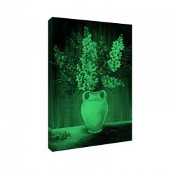 Set tablou fosforescent Frezii in amfora alba