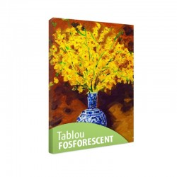 Tablou fosforescent Orhidee galbene