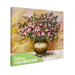 Set tablou fosforescent Frezii in vaza de lut