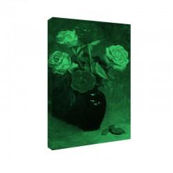 Tablou fosforescent Trandafiri in vaza albastra