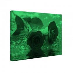 Tablou fosforescent Trandafiri pe apa