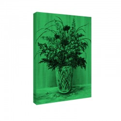Tablou fosforescent Buchet in vaza de cristal