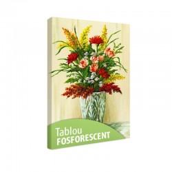 Tablou fosforescent Buchet de flori in vaza de cristal