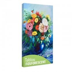 Tablou fosforescent Buchet de flori in vaza albastra