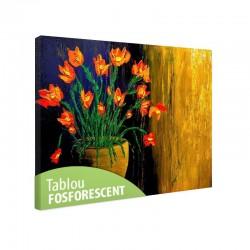 Tablou fosforescent Flori portocalii