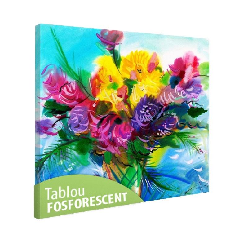 Tablou fosforescent Flori pastel