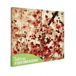 Tablou fosforescent Flori rosii tomnatice