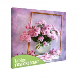 Tablou fosforescent Tufanica roz