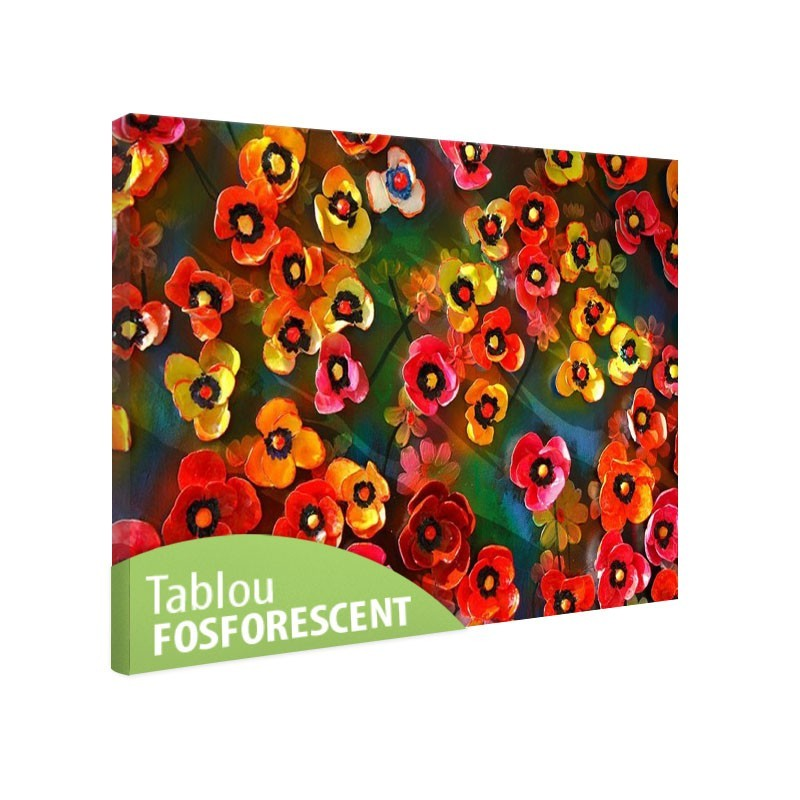 Set tablou fosforescent Panselute multicolore