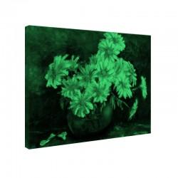 Set tablou fosforescent Margarete pe fundal albastru