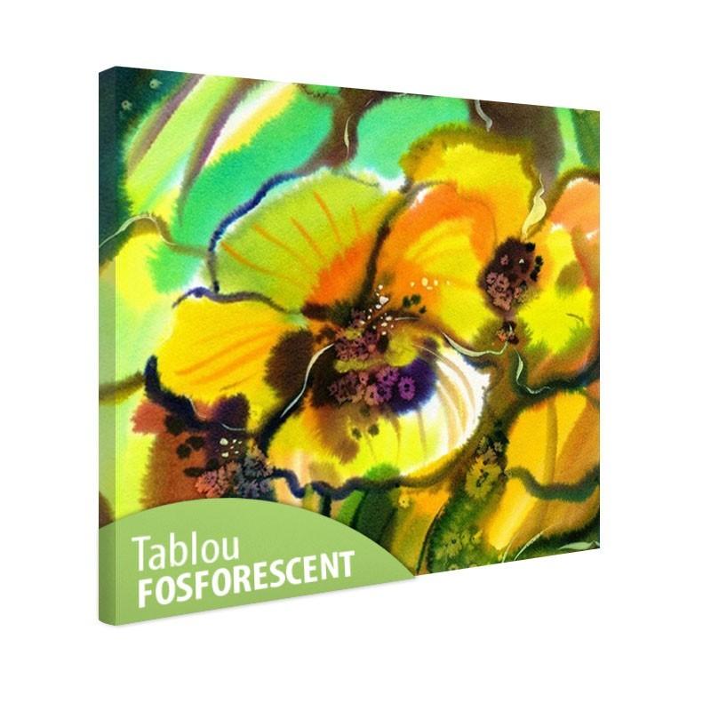 Set tablou fosforescent Panseluta abstracta