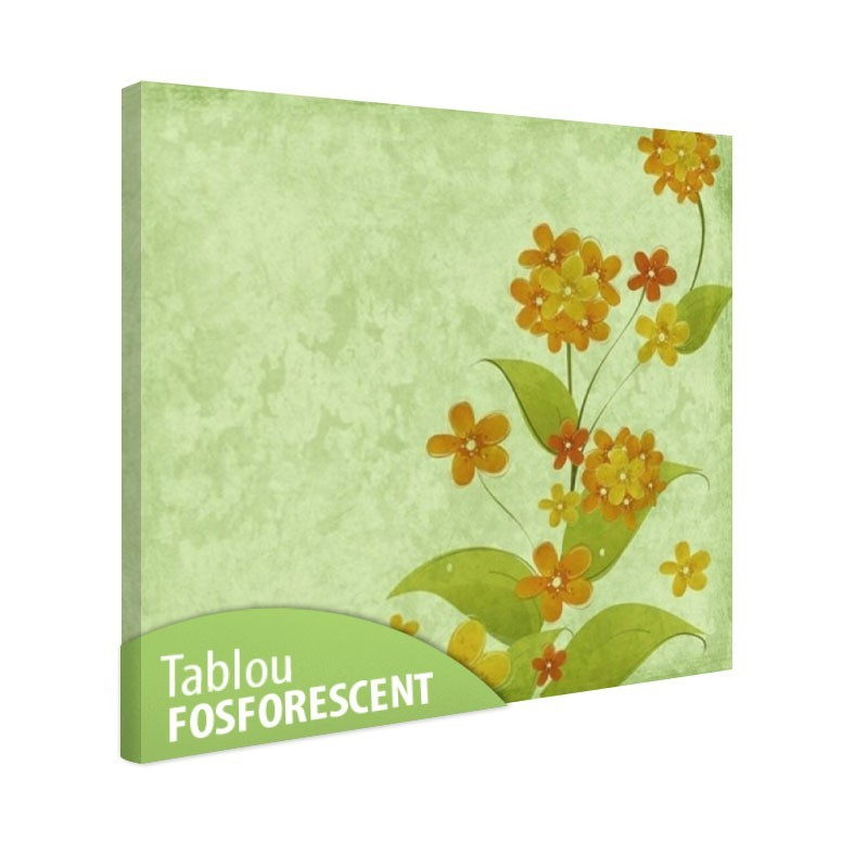Set tablou fosforescent Flori vintage