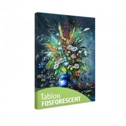 Set tablou fosforescent Flori de vara in vaza