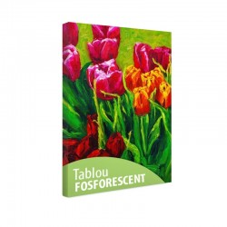 Tablou fosforescent Lalele multicolore