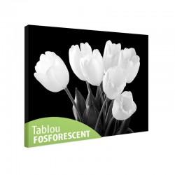 Tablou fosforescent Buchet lalele albe